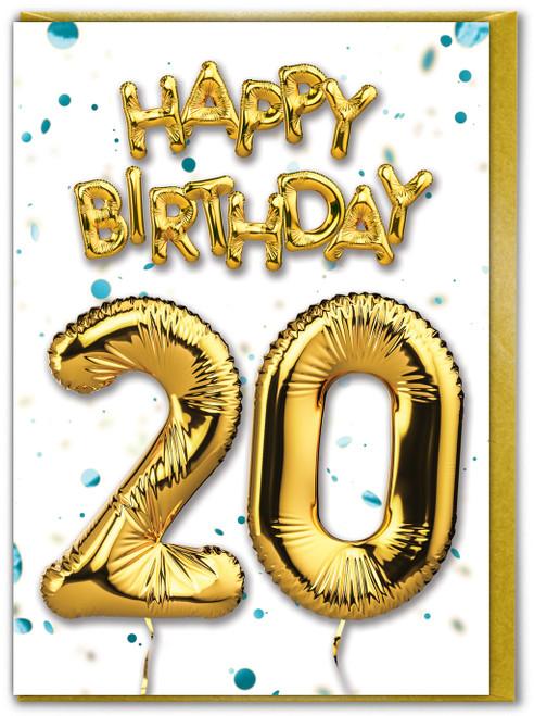 20th Birthday Blue
