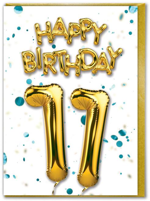 11th Birthday Blue Card