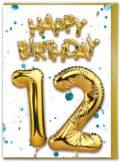12th Birthday Blue