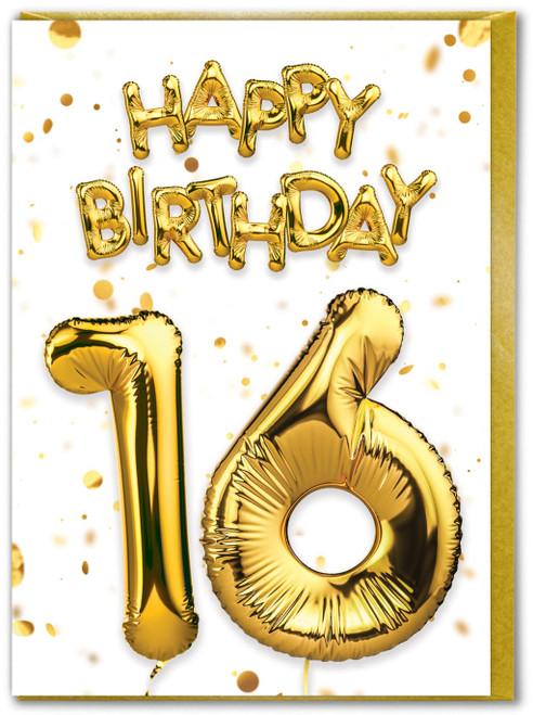 16th Birthday Gold