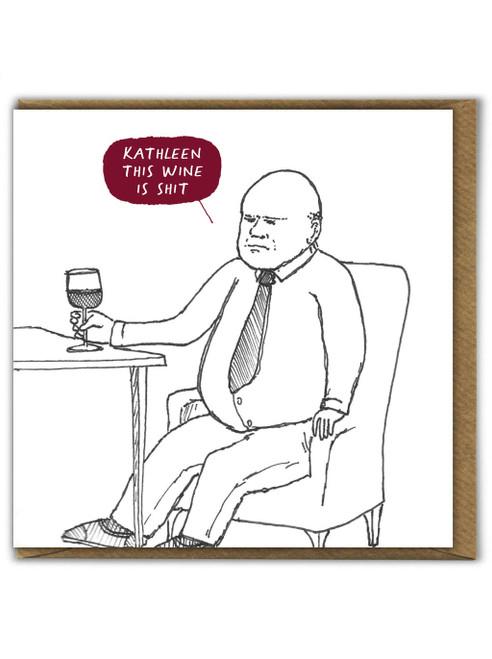 Shit Wine Card