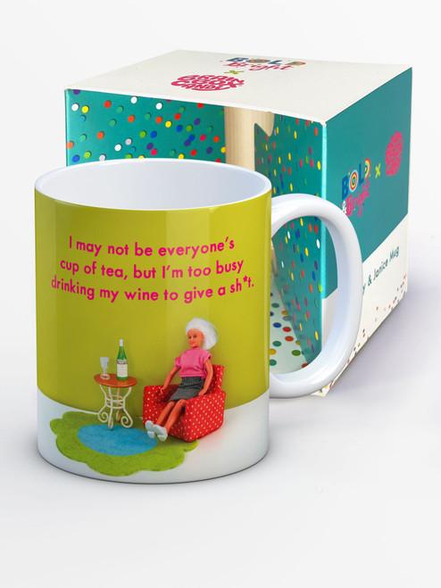 Drinking My Wine Boxed Mug