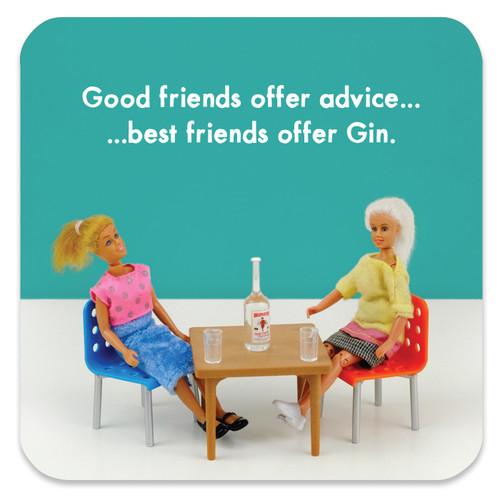 Best Friends Gin Coaster
