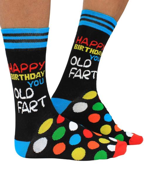 Men's Happy Birthday You Old Fart Socks