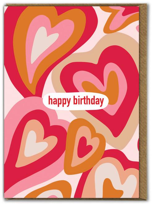 Melting Hearts Birthday Card