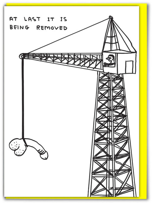 David Shrigley At Last It Is Being Removed Card