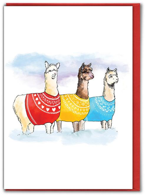 Knitwits Llama Christmas Card