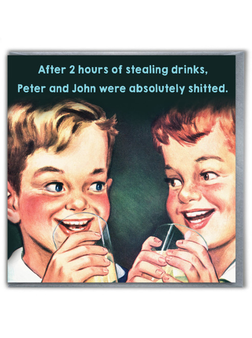 Stealing Drinks Card