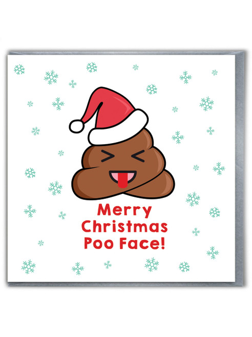 Xmas Poo Face Card