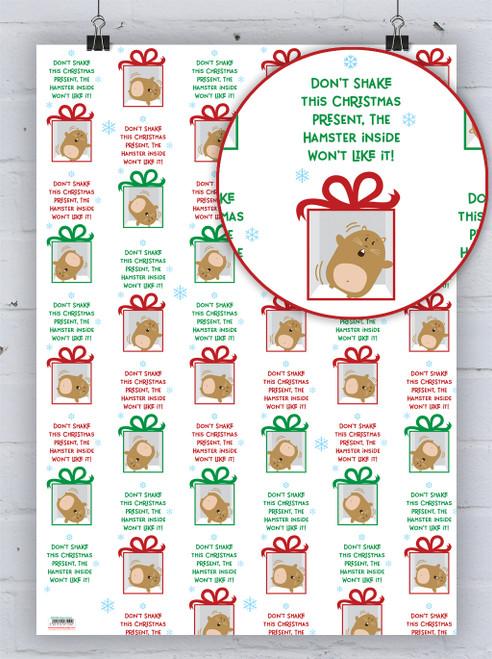 Christmas Hamster Gift Wrap