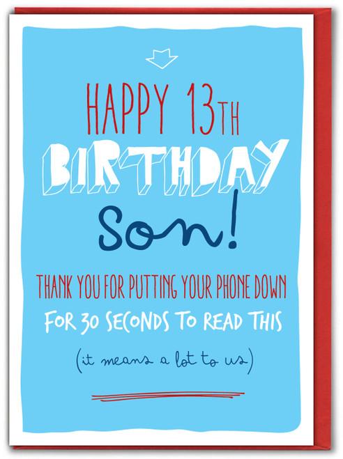 13 Son Phone Down