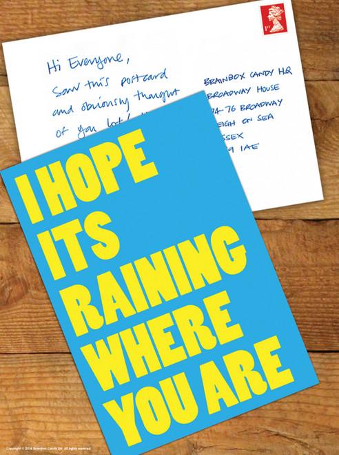 Hope It's Raining Postcard