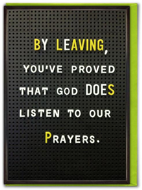 Listen To Prayers Leaving Birthday Card