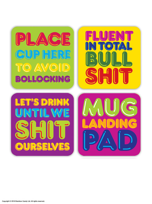 4 Pack Freshly Squeezed Coaster Pack