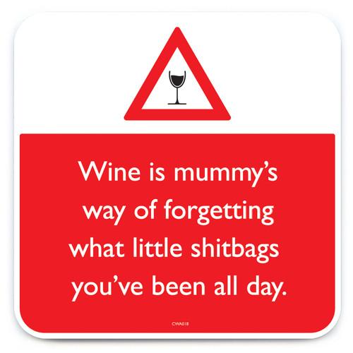 Wine Shitbags Coaster