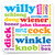 Willy Words Coaster