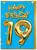 19th Birthday Balloon Card Blue