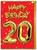 20th Birthday Balloon Card Red
