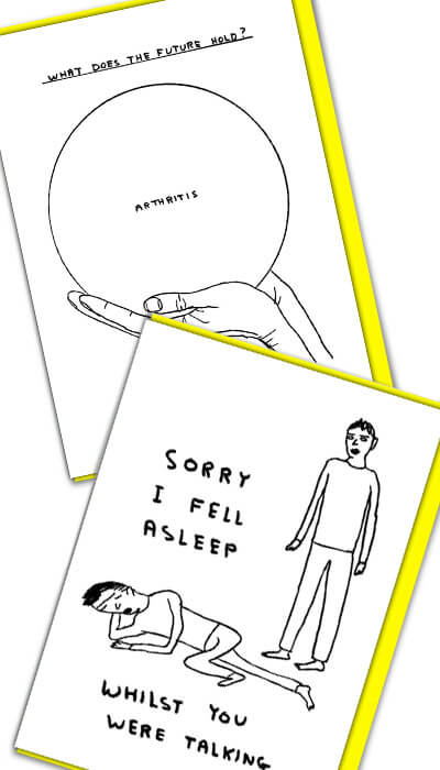 david shrigley funny cards
