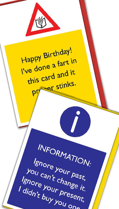 warning funny cards