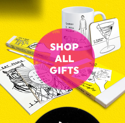 click here to shop David Shrigley gifts