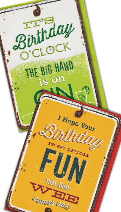 grin n tonic funny cards