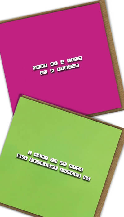 square sayings funny cards