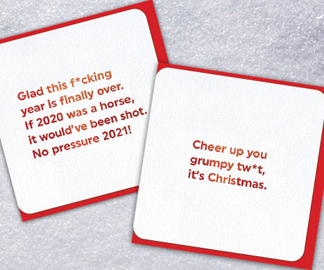 shop quotish rude xmas cards