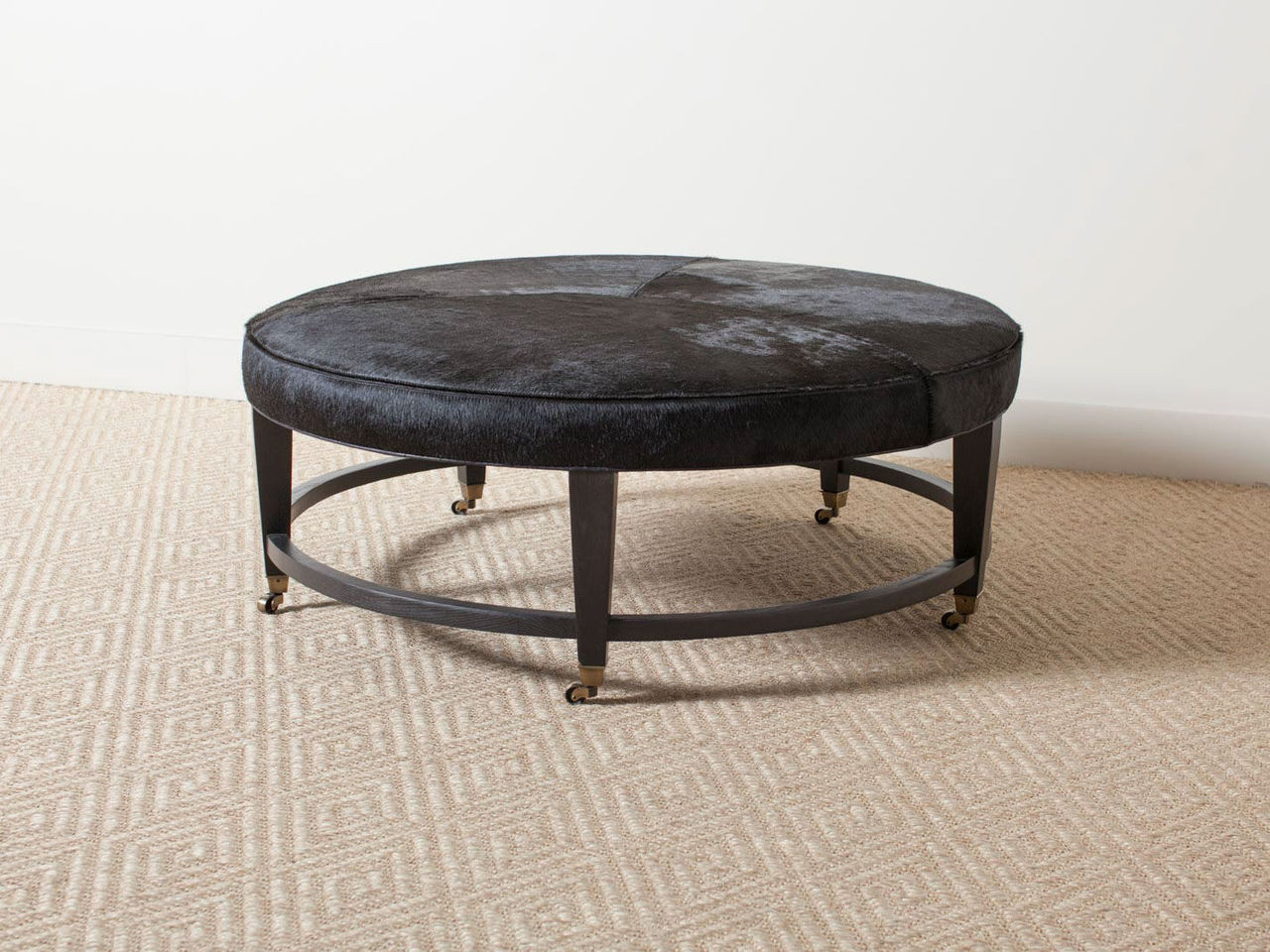 - NIXSON LEATHER COCKTAIL OTTOMAN - R E V I V A L