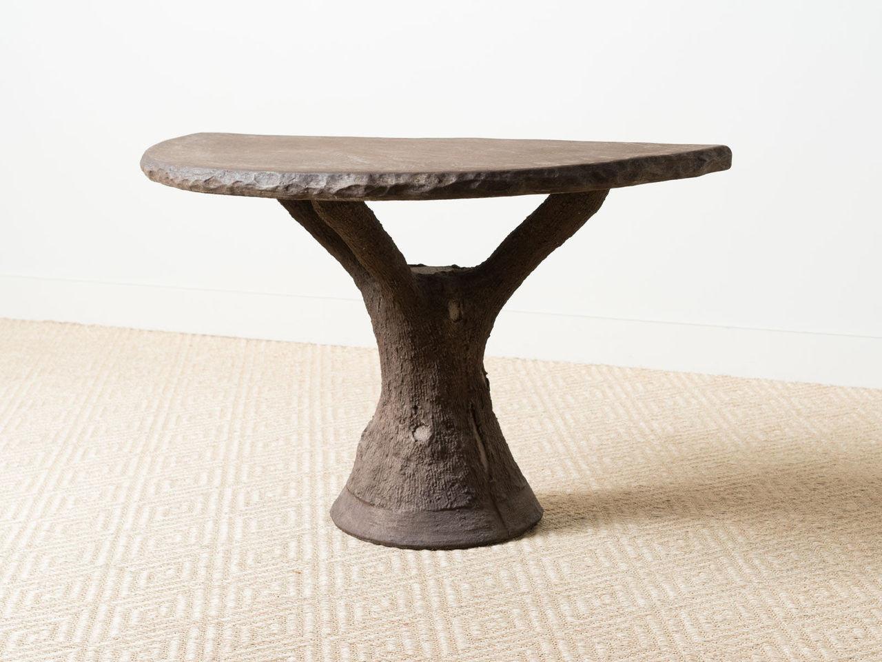 Faux Bois Demi Lune Table Revival Home