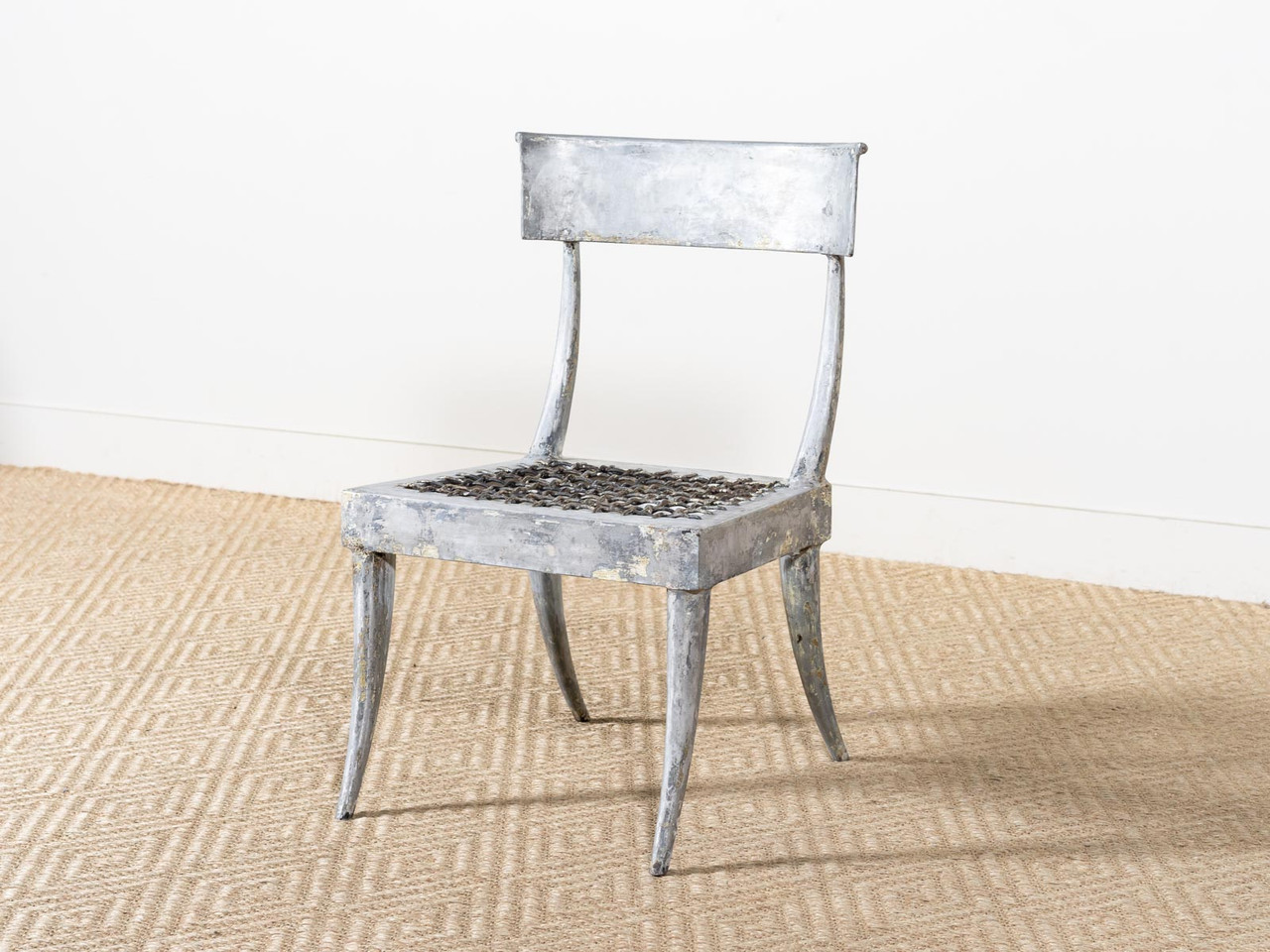 Fantastic Vintage Metal Klismos Chair Alphanode Cool Chair Designs And Ideas Alphanodeonline