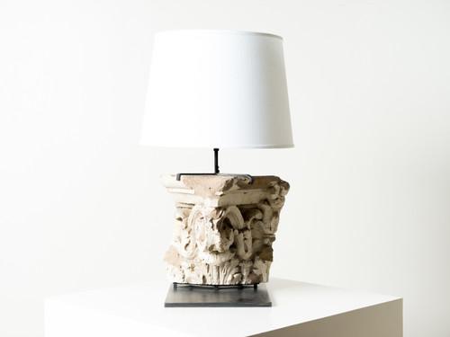 ANTIQUE CAPITAL FRAGMENT LAMP