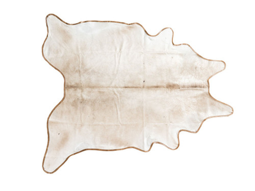 """SAND LEATHER BOUND COWHIDE 87"""" x 95"""""""