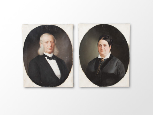 ANTIQUE MARRIAGE PORTRAITS