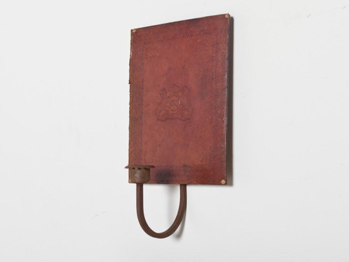 VINTAGE LEATHER SCONCE