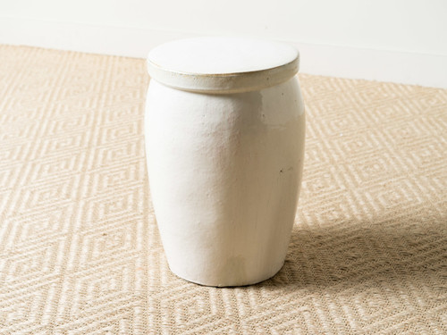 WHITE DRUM TOO STOOL