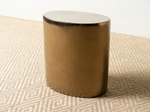 LARGE OVAL GOLD STOOL