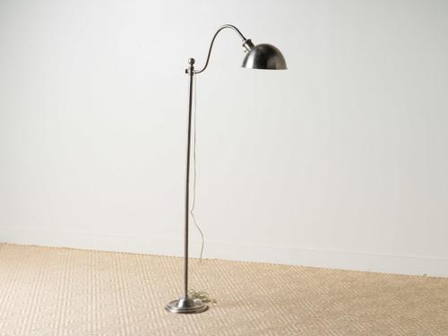 PHARMACY FLOOR LAMP NICKEL