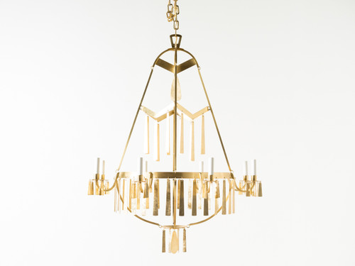 NATAVIA BRASS CHANDELIER