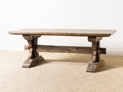 ANTIQUE ITALIAN TRESTLE TABLE