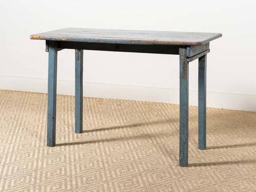 VINTAGE BLUE PAINTED TABLE