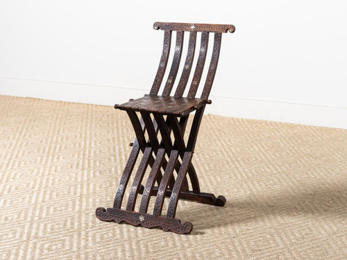 ANTIQUE FOLDING SCRIBE CHAIR