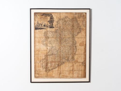 ANTIQUE PAPER MAP IRELAND