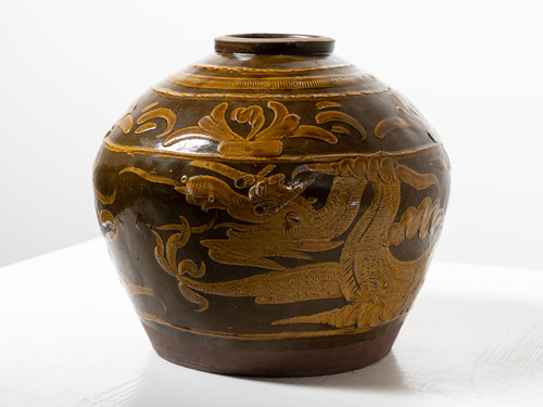 ANTIQUE SQUAT DRAGON POT II