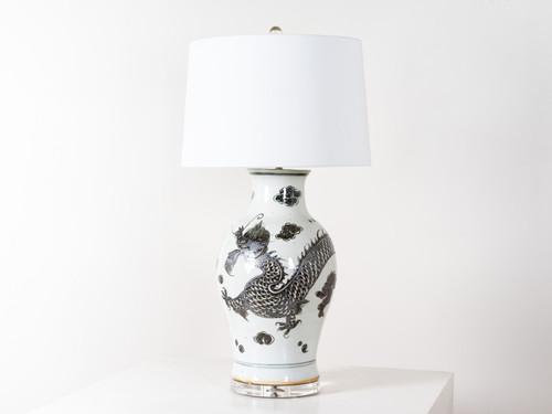 DRAGON KWANYIN TABLE LAMP