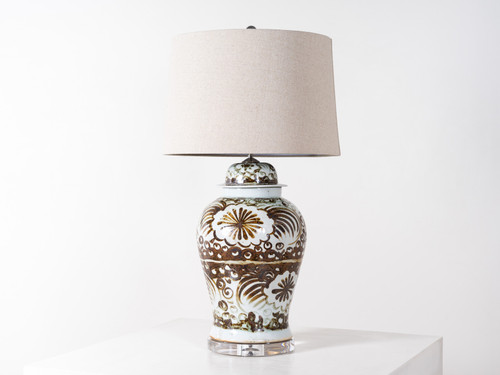 BROWN SILLA FLOWER TABLE LAMP