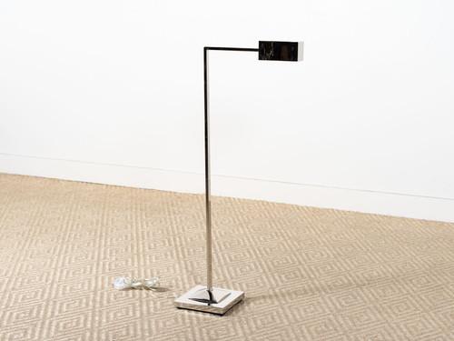RUXLEY FLOOR LAMP NICKEL