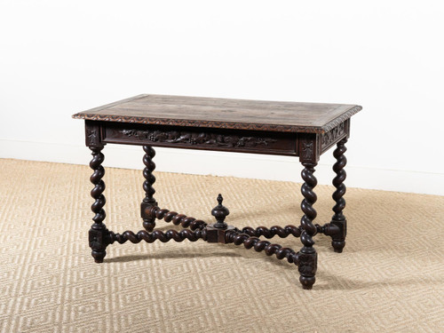 ANTIQUE BARLEY-TWIST TABLE