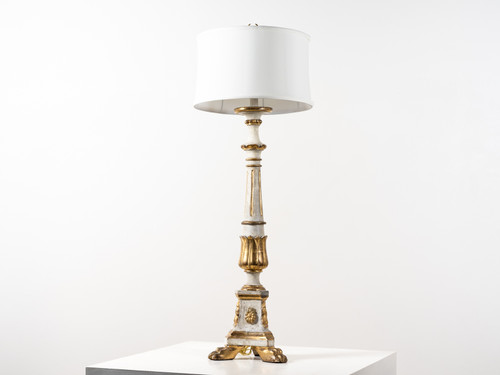 ANTIQUE GRAND CANDLESTICK LAMP