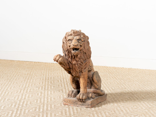 ANTIQUE TERRACOTTA LION